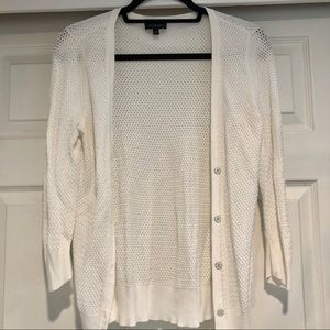 The Limited white cardigan